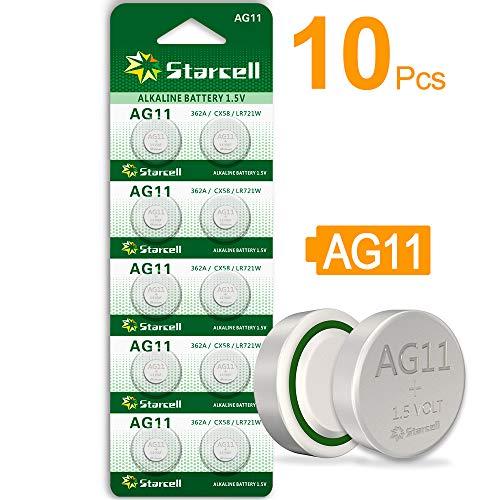 ACT AG13/LR44 Knopfzellen (10Stück) - A76 / L1154 / SR44 / G13 / 357 - 1,5V. AG11X10