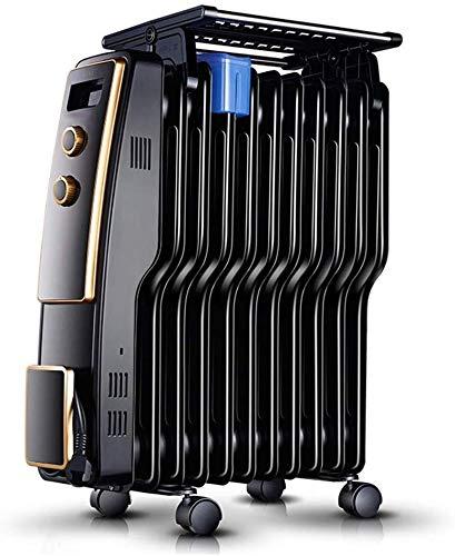 alvyu Radiador de Aceite, radiador de bajo Consumo de energía 2200/11 Elementos disipadores de Calor y termostato Inteligente, protección contra el volcado de Apagado