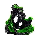 人工的な風景水族館樹脂装飾マウンテンビューロッカリー隠し洞窟ツリー水槽用水族館飾り1ピースD便利で実用的