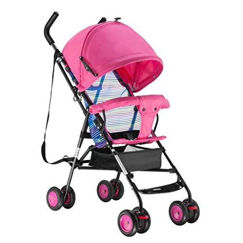 Poussette bébé Chariot de Voyage pour Enfants 1-3 Ans pour Enfants Trolley Summer Baby Pram GAOLILI (Couleur : Rose)