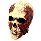 img_本格的 高品質 スカルマスク ドクロ 骸骨 頭蓋骨 骨 お面 覆面 サバゲー サバイバル 仮装 パー