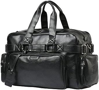 حقيبة كتف كبيرة للكتف بسعة كبيرة ومتعددة الاستخدامات حقائب سفر دفل جلدية سوداء