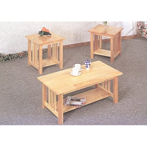 Light Oak Coffee Table And End Table Sets Amazon Com