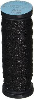 Kreinik No.12 Metallic 10m Tapestry Craft Braid, 11-Yard, Black