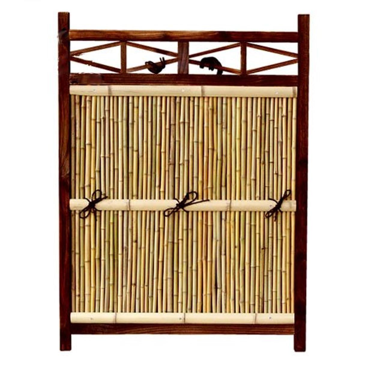 道徳の挑む句竹垣 目隠し フェンス 角型 W88×H120cm