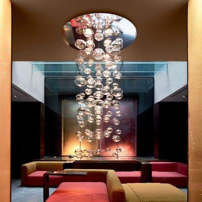Kaskaden-Pendelleuchte 4-flammig Ether Leuchtmittel (Fassung): 4 x G53 / 75W und 1 x Multi Color LED GU5,3