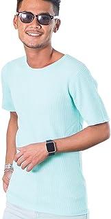 """(キャバリア)CavariA メンズ 半袖 Tシャツ ワッフル クルーネック Vネック ヘンリーネック""""CAFK18-06"""""""