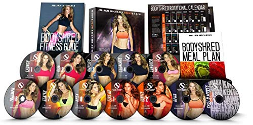 L Jillian Michaels Body Shred Workout DVD-Fitness Home Weight Loss Exercise with 12 Discs