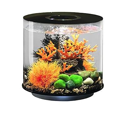 OASE biOrb TUBE 15 LED Aquarium, 15 Liter - Aquarien Komplett-Set mit LED Beleuchtung und patentiertem Filter-System, Acryl-Becken in Schwarz