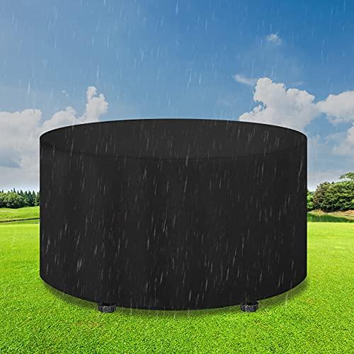 Gartenmöbel Abdeckung Rund, Gartentisch Abdeckung Wasserdichtes Winddicht 420D Oxford Schutzhülle Gartenmöbel, Rund Schutzabdeckung für Gartenmöbel Terassenmöbel(128 x 70 cm)
