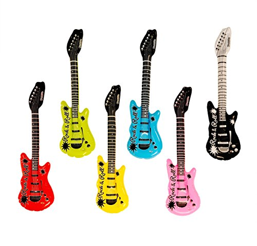 Kangaroo's Inflatable Rock 'N Roll Electric Guitars, 18-Pack