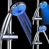Bluelover Cabeza De Ducha Led De Control De Sensor De Temperatura De Color 3