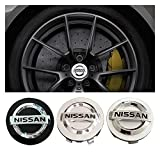 SYWY 4pcs 54/58 / 60mm Coche de Ruedas de automóvil Caps Caps Caps Emblem Decal Cubierta de Rueda Compatible con Nissan Qashqai Tiida Almera Altima Treal X-Trail (Color Name : 54mm A)