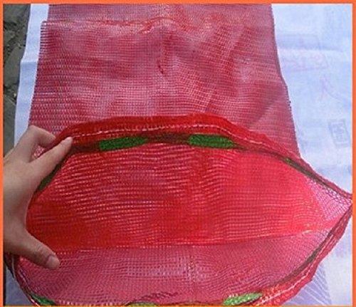 20sacos tejidos de malla para verduras, leña, madera, astillas, de 50x 65cm, soportan hasta 30kg
