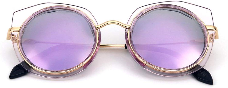 XXHDYR Fashion Irregular Sunglasses colorful Coated Polarized Sunglasses Women's Sunglasses (color   Purple Frame Purple Lens)