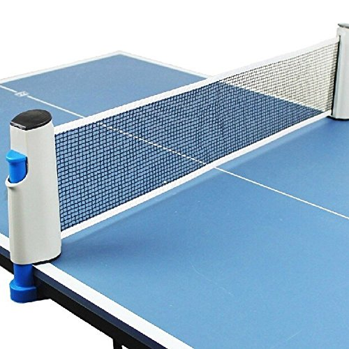 Best Deals! Alion Table Tennis Net Portable Retractable Ping Pong Post Net Rack Set - Replacement Pi...