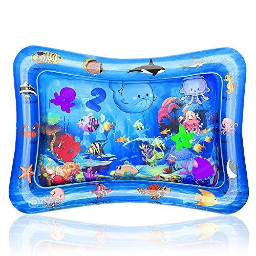 IWILCS Materassino per bambini ad acqua, giocattolo gonfiabile per bambini 3 6 9 mesi, senza BPA, giocattolo sensoriale (48 x 66 cm)
