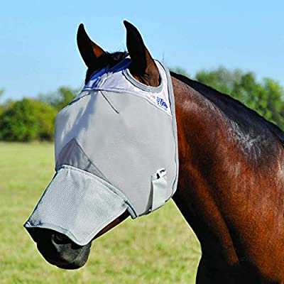 Cashel Crusader Fly Mask with Long Nose - Size: Arab, Cob, Small Quarter Horse by Cashel