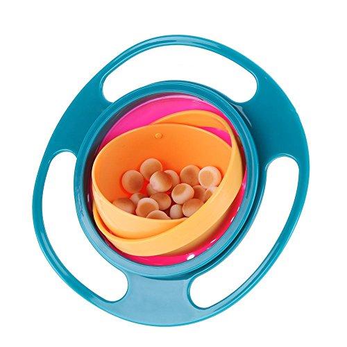 Everpert - Cuenco giratorio de 360° para niños, a prueba de derrames, cuenco oscilante para niños
