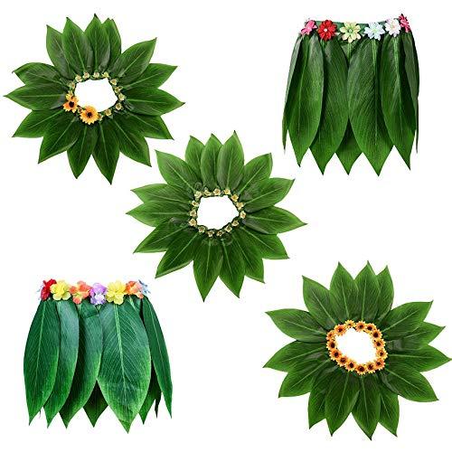 VCB Falda de Hoja de simulación de Fiesta Hawaiana Disfraz de Hula ...