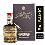 Giuseppe Giusti 4 Gold Medals 'Quarto Centenario' Cubica Traditional Balsamic Vinegar of Modena IGP Aged Over 15 Years Old – 250ml – Includes Collector's Gift Box