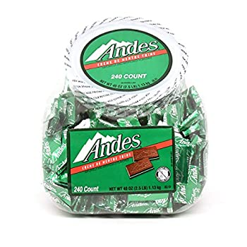 Tootsie Roll Andes Crème de Menthe Individually Wrapped Thin Mints 240 Count