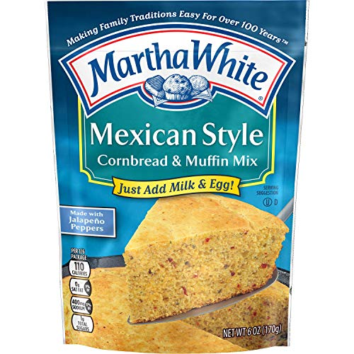 Martha White Mexican Style Cornbread and Muffin Mix, 6 Ounce (Pack of 12)