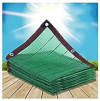 遮光ネット オーニング クー 日よけシート サンシェード 日除け シェード 日よけ シェードセイル UVシート クールシェード 簡単設置 工事不要 ガーデン 庭 駐車場 -緑 2×6m