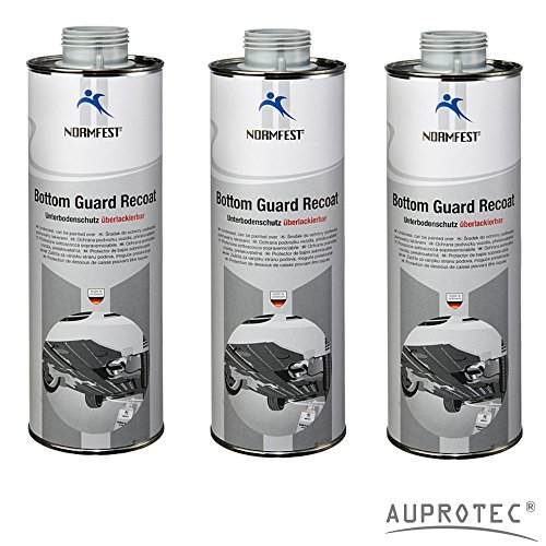 Auprotec® Normfest Unterbodenschutz überlackierbar Bottom Guard Recoat 1 L grau (3 Dosen)