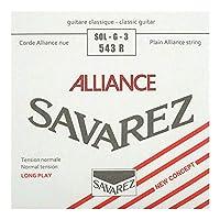 SAVAREZ 543R ALLIANCE Normal tension クラシックギター弦 3弦 バラ弦×5本