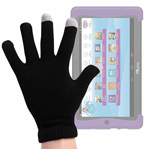 DURAGADGET Guantes Negros para Pantalla Táctil para Cefatronic - Tablet Clan Motion Pro - Talla Grande - ¡Ideales para El Invierno