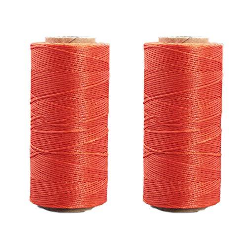 Yullymerry レザークラフト 糸 手縫い糸 直径0.8mm 蝋引き糸 (260m × 2本, 060)