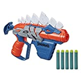 NERF DinoSquad Stegosmash Dart Blaster, 4-Dart Storage, Pull-Back Priming Handle, 5 Official Darts, Dinosaur Design, Stegosaurus Spikes