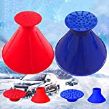Lemonfreed Ice Scraper-Round Car Windshield Snow Scraper-Magic Funnel Snow Removal Tool Cone-Shaped Windshield