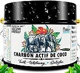 Nabür  Poudre Charbon Actif de noix de coco 100% Naturel  Charbon dent blanche...