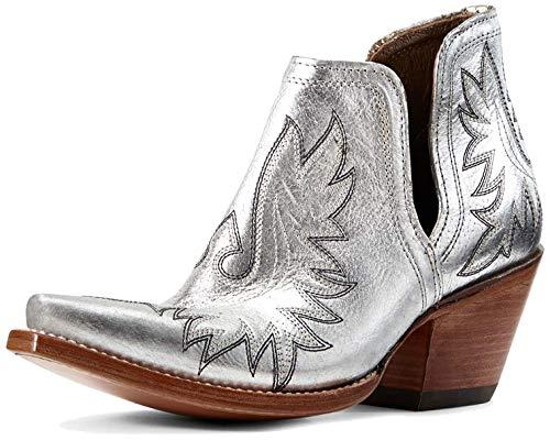 ARIAT womens Dixon boots, Silver Metallic, 6.5 US