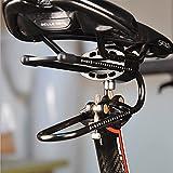 CawBing Fahrrad Sattelstütze Dämpfer Legierung Federstahl Fahrradsattel Federung Gerät Für MTB Mountain Road Bike Stoßdämpfer Radfahren Teile Silber