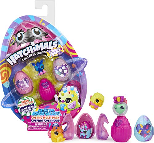 Hatchimals CollEGGtibles, Cosmic Candy Multipack with 4 Hatchimals, for Kids Aged 5 and up (Styles May Vary)