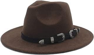 Lei Zhang Men Women Wool Fedora Hat Tea Party Hat Casual Wild Church Hat Pop Panama Hat Size 56-58CM