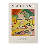 Póster de impresión de exposición abstracta, cuadro de lienzo de arte de pared de Henri Matisse Van Gogh Picasso Yayoi, pintura de lienzo sin marco A6 30x45cm
