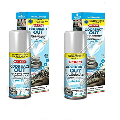 H.T. HITOPSELLER 2X 2 Pezzi ODORBACT out Talc Fragrance Odor bact igienizzante condizionatori Auto Macchina