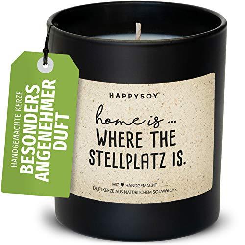 Happysoy Geschenk für Camper Duftkerze im Glas mit...