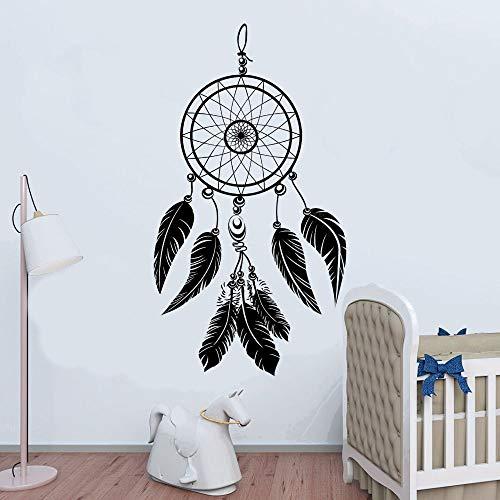 Traumfänger Natives Design mit Federwandtattoos Traumfängeraufkleber Haus- und Ladenraumdekoration 74x131cm