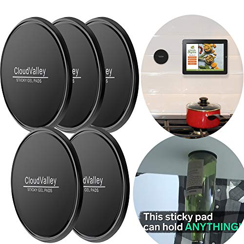 CloudValley Sticky Gel Pads - Gripping Pad [5 Pack], Multifunctional Sticky Cell Pad, Non-Slip mats Holds Cell Phones, Coins, Golf Cart, Boating, Speakers
