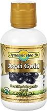 Dynamic Health Acai Gold | Usda Certified Organic Acai 100% Juice | vegetarian, Gluten-free, Bpa-free, Dietary Supplement | 16oz, 16 Serv