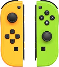 $43 » Joy-Pad Controller Compatible with Switch Joycon,Left and Right Controllers with Straps Support Wake-up Function(Yellow an...