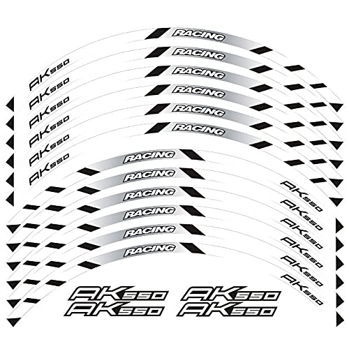 Pegatinas para motocicleta, pegatinas reflectantes para ruedas, pegatinas adecuadas para decoración de etiquetas Ak550 (color 2)