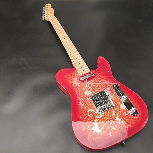 CJWSLYT Guitarra Guitarra Eléctrica, Cuerdas De Acero...