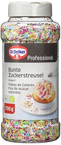 Dr. Oetker Professional Bunte Zuckerstreusel, Zum Backen und Verzieren, 700 g Dose