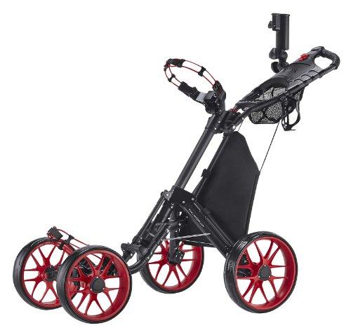 Caddytek Plegable con un Clic 4Rueda versión 3Carrito de Golf, CaddyCruiser One V3-Red, Rojo